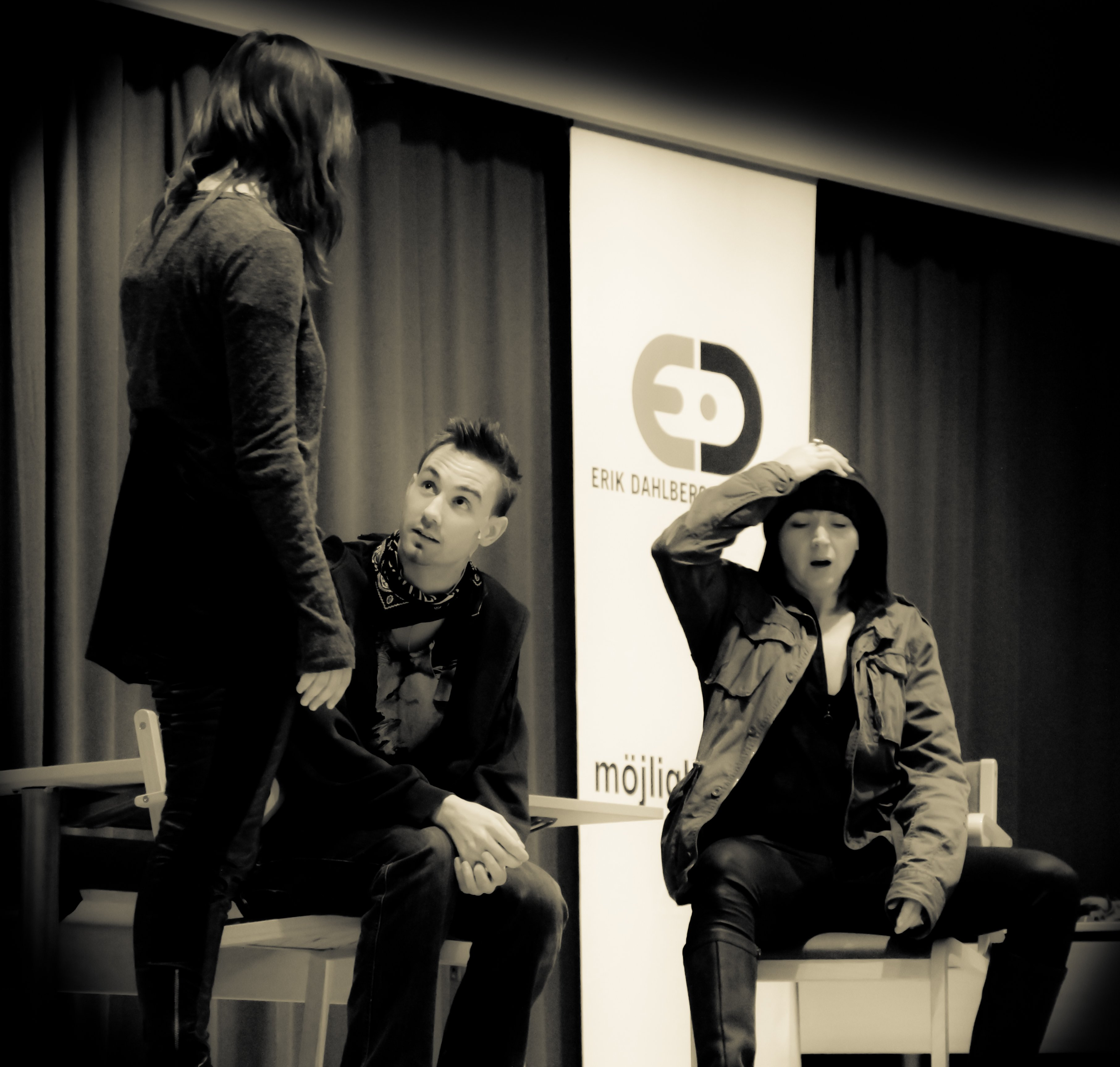 Scene from a play about bullying